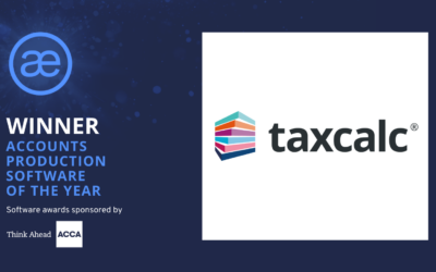 TaxCalc – 2020 WINNER – Accounts Production Software and Professional Tax Software of the Year